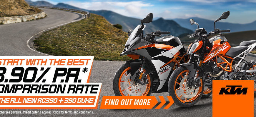 KTM 3.9% Finance on the RC390 and 390 DUKE